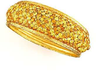 Jose & Maria Barrera Pave-Crystal Bracelet, Yellow