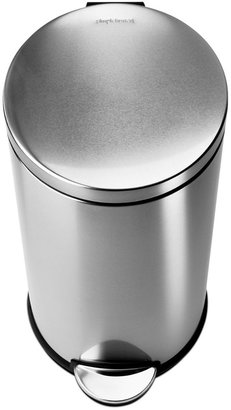 Simplehuman Brushed Stainless Steel 30 Liter Fingerprint Proof Round Step Trash Can