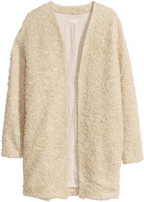 H&M Mohair-blend Cardigan - Beige - Ladies