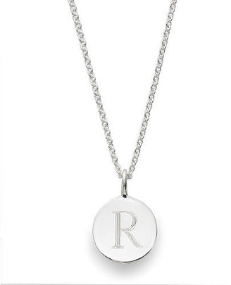 Sarah Chloe Sterling Silver Engraved R on 16 inch Cable Chain