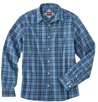 Merona Men's Tailored Fit Plaid Poplin Shirt - Assorted Colors