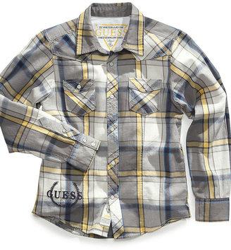 GUESS Shirt, Boys Wilson Plaid Shirt