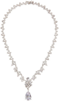 Kenneth Jay Lane CZ by Multi-Station Pear-Drop Cubic Zirconia Necklace