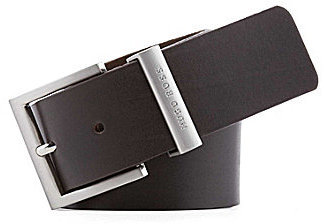 Boss Black Bud Leather Belt