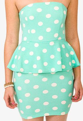 Forever 21 Polka Dot Peplum Dress