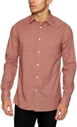 Benson FL12-SH01PT Men's Shirt Maroon/Orange Medium