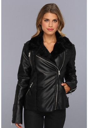 Blank NYC Vegan Leather Faux Shearling Jacket