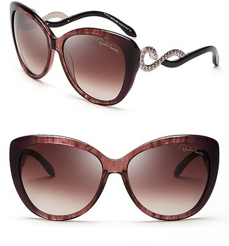 Roberto Cavalli Crystal Side Sunglasses