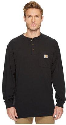 Carhartt Workwear Pocket L/S Henley (Black) Men's Long Sleeve Pullover