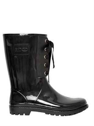 RED Valentino 30mm Rubber Bow Boots