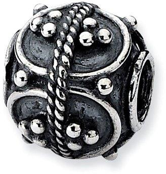 Prerogatives Sterling Studded Oval Artisan Bead