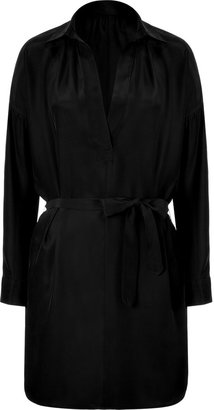 Vince Black silk belted tunic