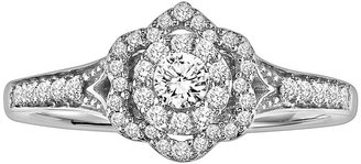 Simply Vera Vera Wang Diamond Flower Engagement Ring in 14k White Gold (1/3-ct. T.W.)
