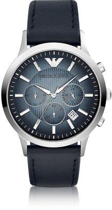 Emporio Armani Chronograph Leather Band Men's Watch