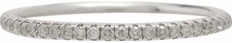 Ileana Makri Women's White Diamond & White Gold Thread-Band Ring