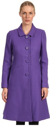 Kate Spade Tiera Coat (Sonia Purple/Black) - Apparel