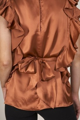 NU Collective Cascade Sleeve Top in Cinnamon