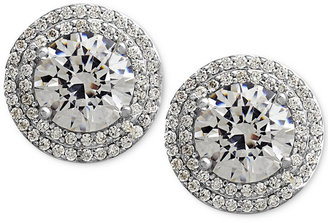 Arabella Sterling Silver White Swarovski Zirconia Pave-Set Stud Earrings (7-3/8 ct. t.w.)