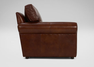 Ethan Allen Retreat Roll-Arm Leather Chair