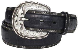 Wrangler Men's Croco Emossed Western Belt
