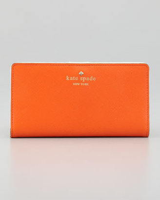 Kate Spade Mikas Pond Stacy Continental Wallet, Orange
