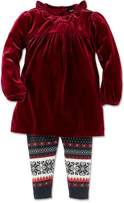 Ralph Lauren Set, Baby Girls 2-Piece Tunic and Leggings