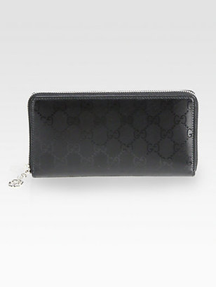 Gucci GG Imprime Leather Zip-Around Wallet