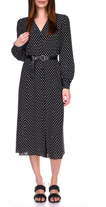 MICHAEL Michael Kors Kate Logo Dot Long-Sleeve Shirtdress