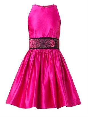 Christopher Kane Belted duchess-satin dress