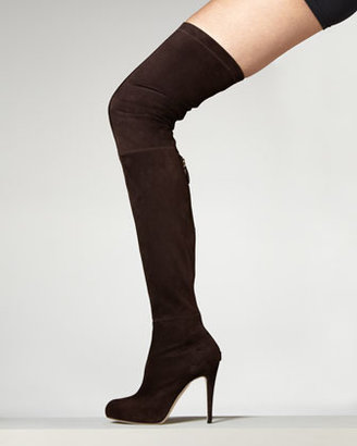 Brian Atwood David Suede Over-the-Knee Boot