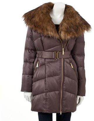 JLO by Jennifer Lopez satin down puffer jacket