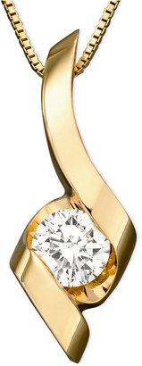 Sirena Pendant, 14k Gold Diamond (1/3 ct. t.w.)