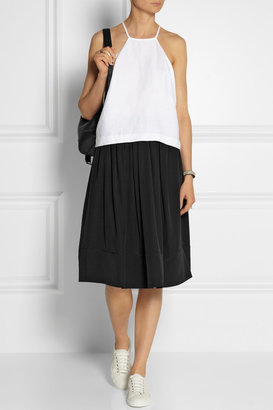Elizabeth and James Avenue washed-silk skirt