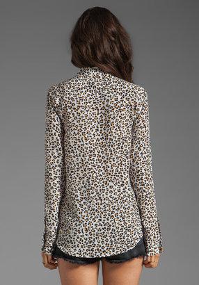Equipment Kitten Leopard Printed Blouse
