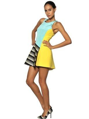 Fausto Puglisi Colour Block Silk Dress