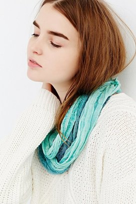 Urban Outfitters Dip-Dye Nubby Eternity Scarf