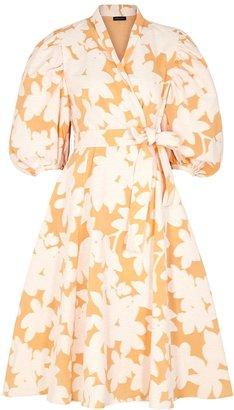 Stine Goya Belinda Cotton-blend Jacquard Wrap Dress