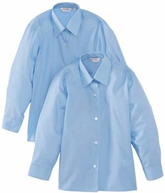 """Trutex 2pk Girl's Long Sleeve Easy Care Blouse,(Manufacturer Size: 38"""" Chest)"""