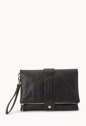 Forever 21 Modernist Faux Leather Clutch