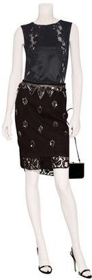 No.21 Black Embroidered Skirt