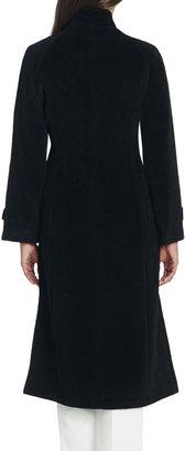 Jones New York Wool Coat with Stand Collar and Raglan Shoulders