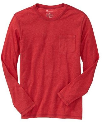 Gap Solid long-sleeve pocket T