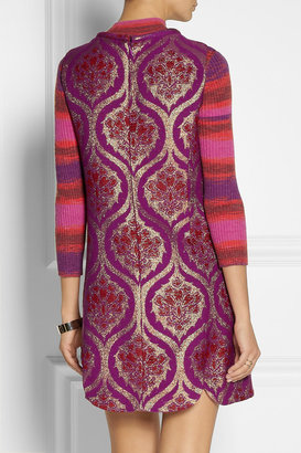 Anna Sui Metallic jacquard mini dress