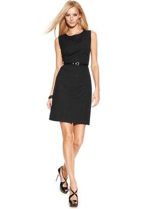 INC International Concepts Sleeveless Belted Sheath Dress