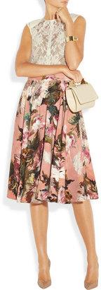 Dolce & Gabbana Rose-print crepe circle skirt