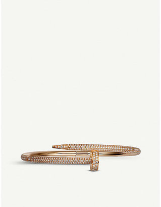 Cartier Juste un Clou 18ct pink-gold and diamond bracelet