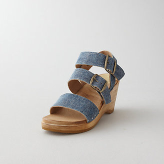Steven Alan NO.6 three strap wedge sandal