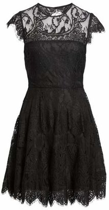 BB Dakota 'Rhianna' Illusion Yoke Lace Fit & Flare Dress