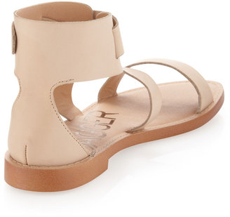 Kelsi Dagger Macbeth Flat Ankle-Strap Sandal, Blush