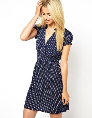 Lovestruck Polka Dot Wrap Dress